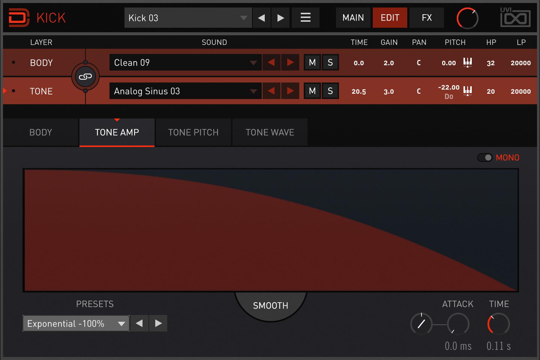 Drum Designer | Kick Tone Amp
