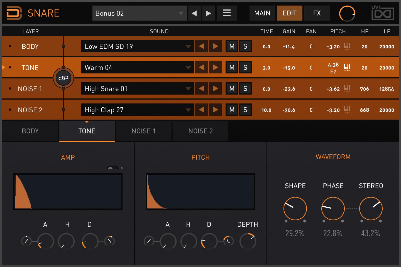 Drum Designer | Snare Tone