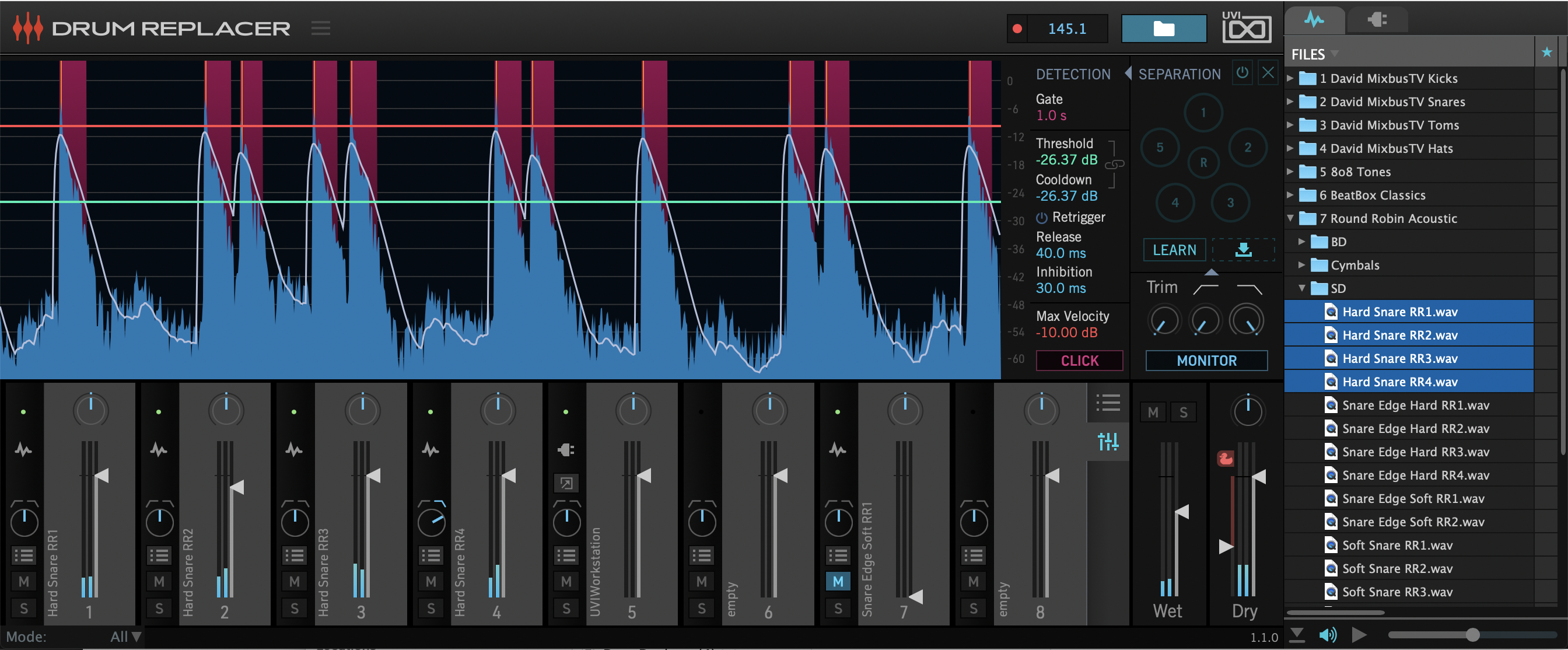 Drum Replacer Mixer GUI