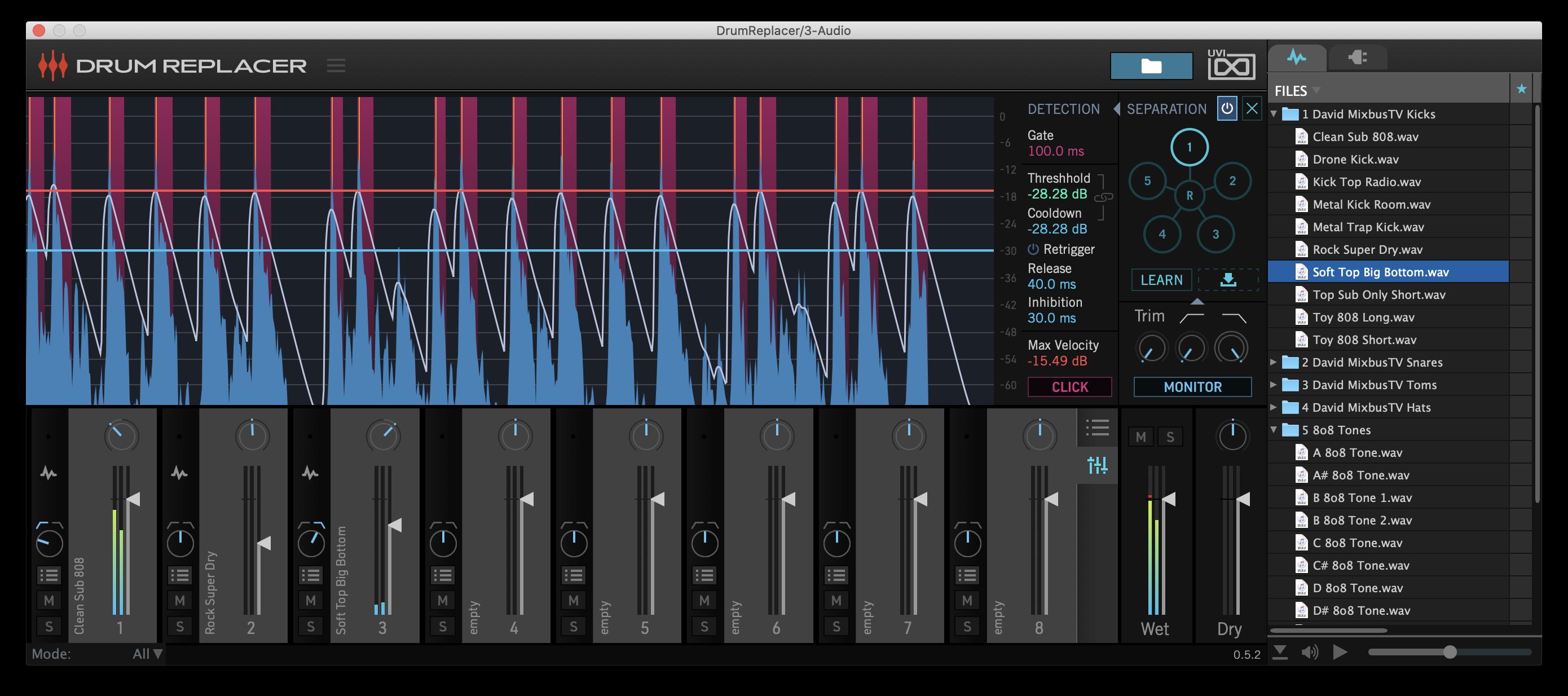 Drum Replacer Mixer GUI