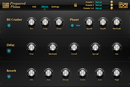 IRCAM Prepared Piano GUI
