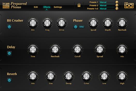 IRCAM Prepared Piano GUI