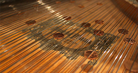 UVI IRCAM Prepared Piano | Objects Inserted Between the Strings