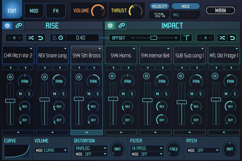UVI Meteor |GUI Edit Rise