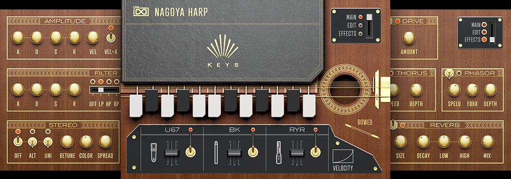 UVI Nagoya Harp | KEYS GUIS