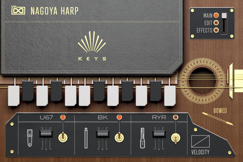 Nagoya Harp KEYS - Main GUI