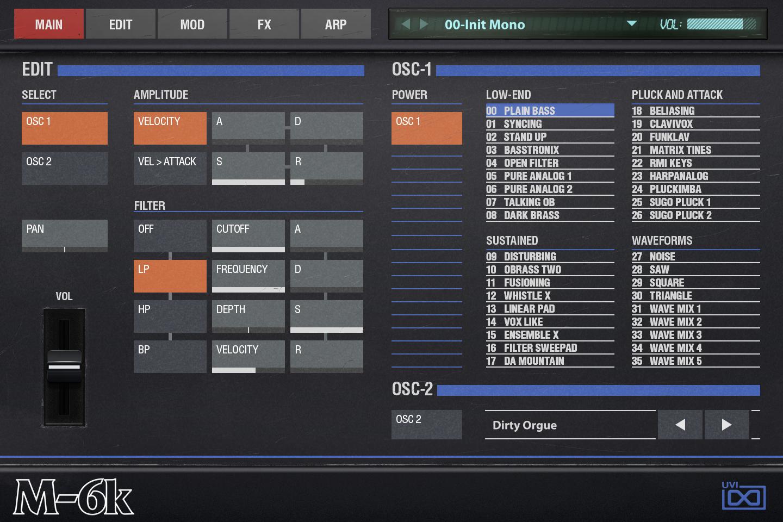 OB Legacy | M-6K Main GUI