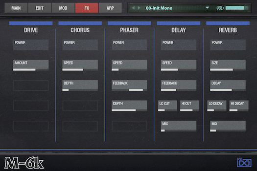 OB Legacy | M-6K FX GUI