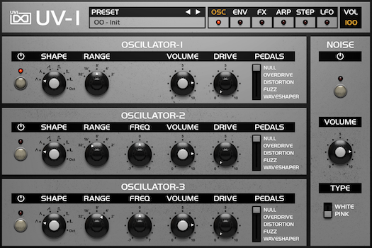OB Legacy | UV-1 Osc GUI