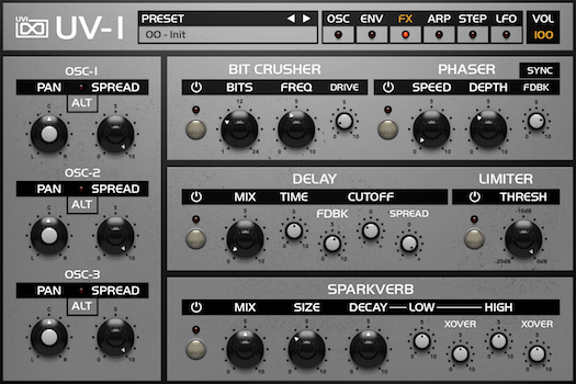 OB Legacy | UV-1 FX GUI