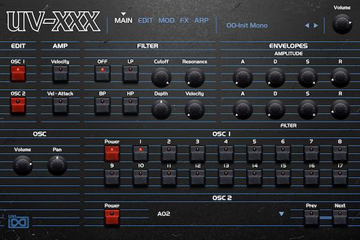 OB Legacy | UV-XXX Main GUI