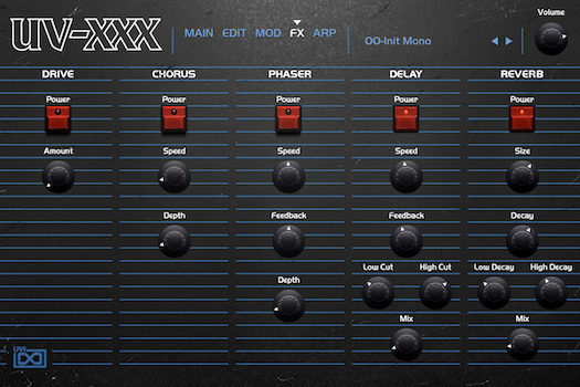 OB Legacy | UV-XXX FX GUI