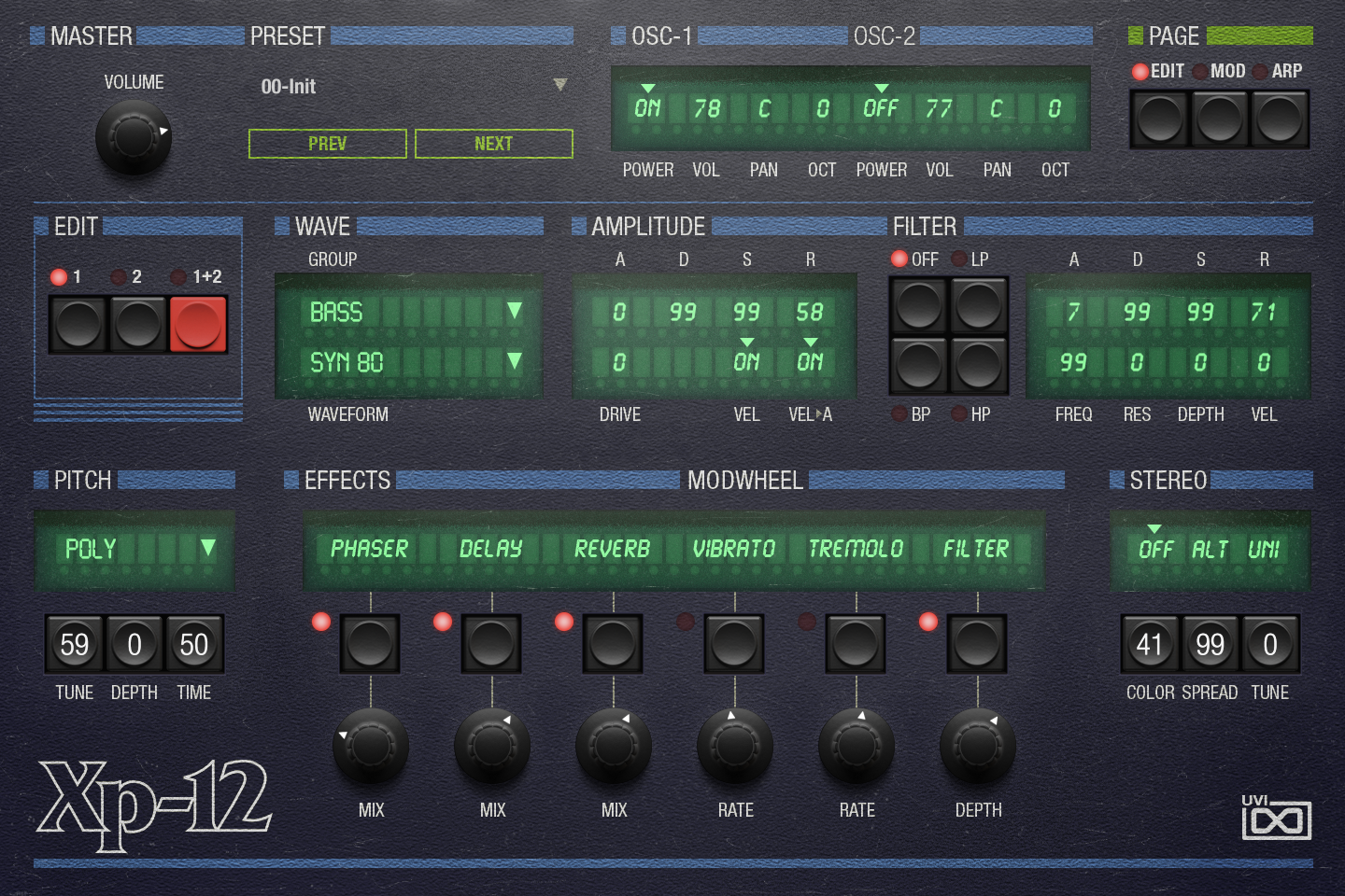 OB Legacy | XP-12 Edit GUI