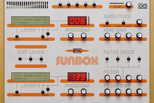 UVI PX SunBox | Main GUI