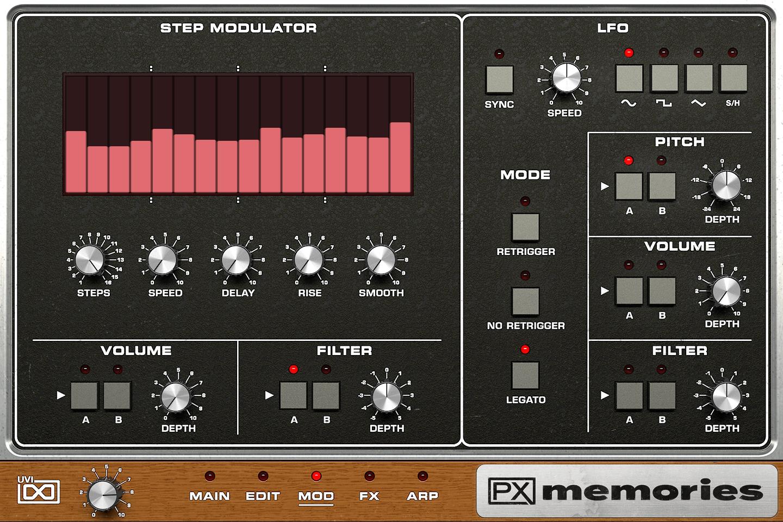 UVI PX Memories | GUI Modulator