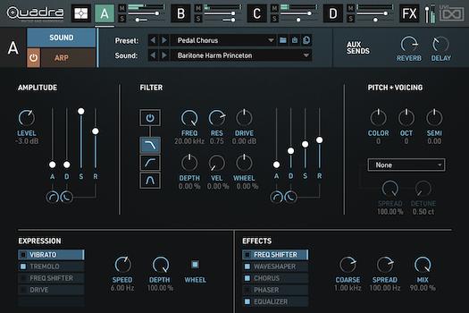 Quadra: Muted & Harmonics | Edit GUI