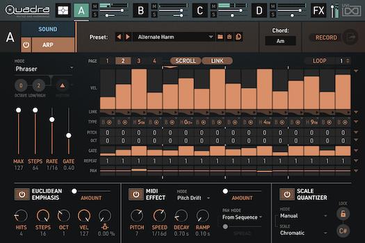 Quadra: Muted & Harmonics | Arp GUI