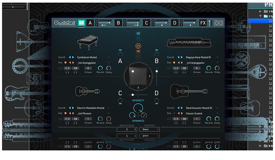 UVI Quadra: Muted & Harmonics | GUIS