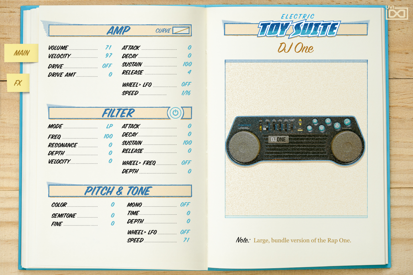 UVI Toy Suite GUI | DJ One