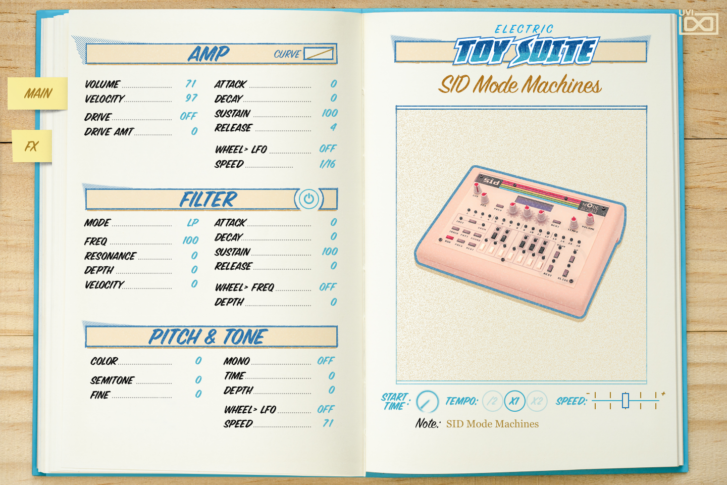 UVI Toy Suite GUI | SID Mode Machines