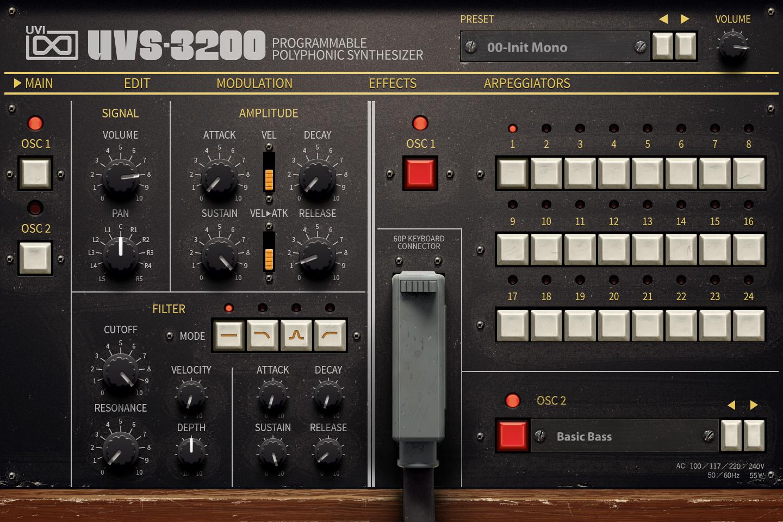 UVI UVS-3200 | Main UI
