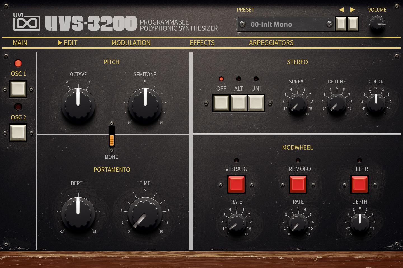 UVI UVS-3200 | Edit UI