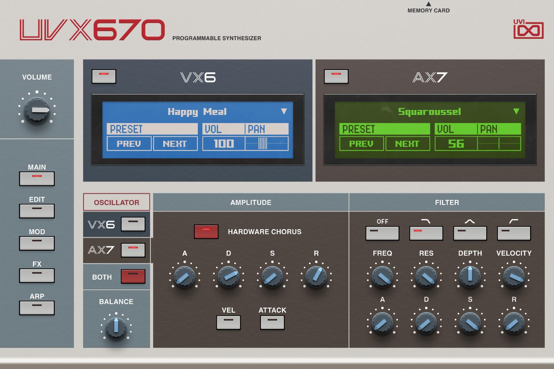 UVI UVX670 | GUI Main