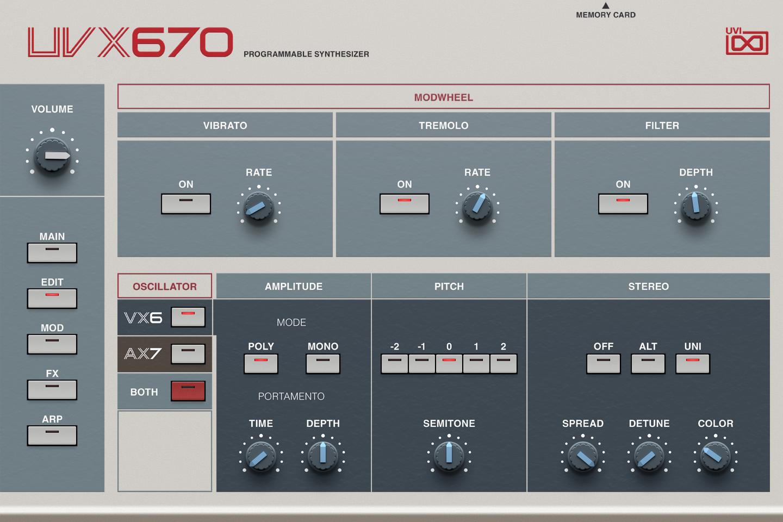 UVI UVX670   GUI Edit