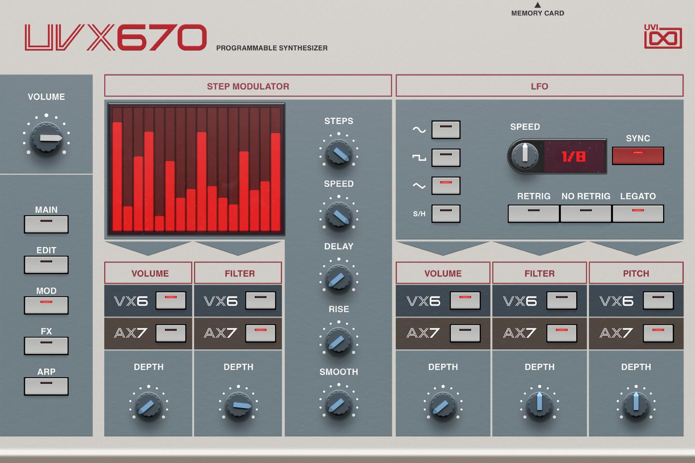 UVI UVX670 | GUI Mod