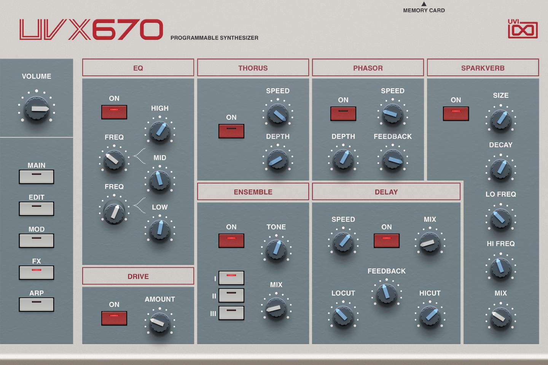 UVI UVX670 | GUI FX