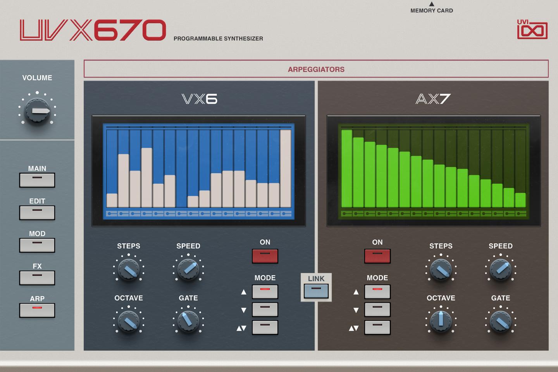 UVI UVX670 | GUI Arp