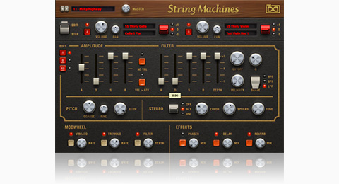 UVI String Machines | GUI