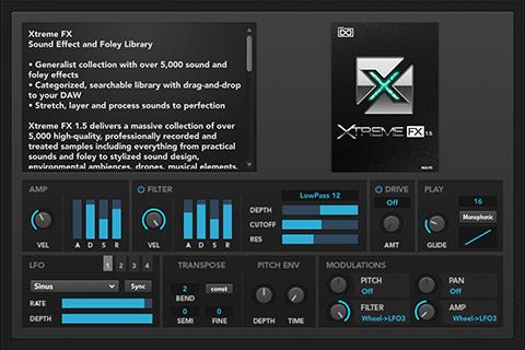 UVI Xtreme FX | GUI